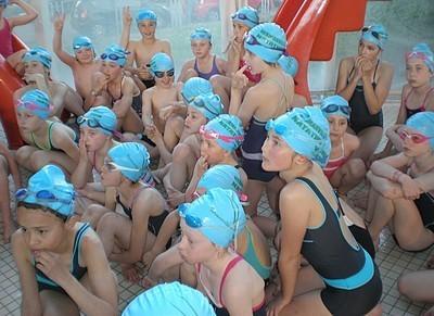 Photo des compétiteurs du club de natation